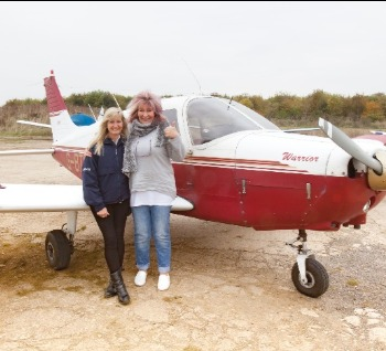 Enstone Flying Club, First solo, Sharron Trew