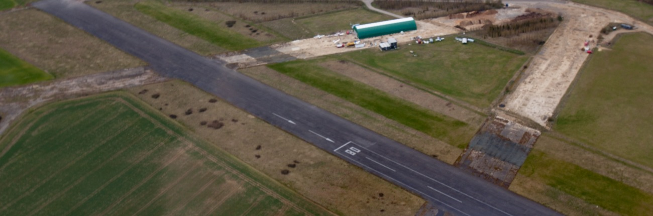 Enstone Flying Club from the air